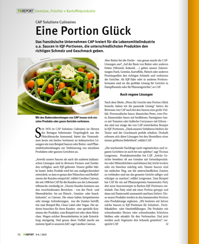 french specialist in tailor-made sauces and toppings